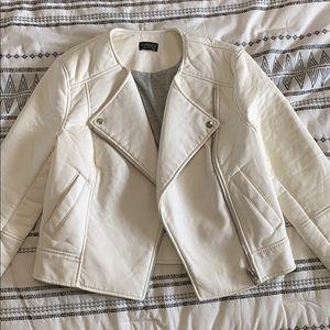 Topshop faux leather white women's jacket